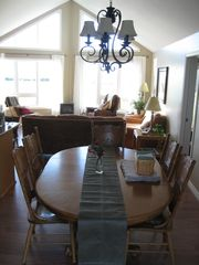 Miminegash cottage photo - Dining area with large table to seat everyone. Right beside the kitchen.