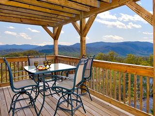 Pigeon Forge cabin photo - upper deck outside dining and view