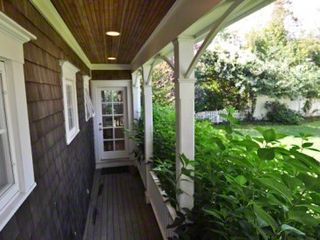 Edgartown house photo - The Other Porch Is Surrounded By Hydrangeas & Looks Out To Shared Compound Yard