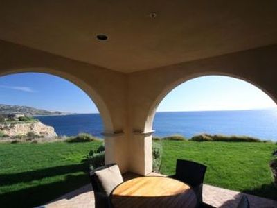 A relaxing view from the outside patio.