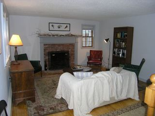Eastham house photo - Quiet Living Room with Fireplace