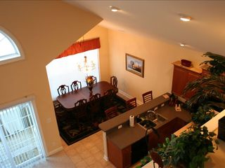 Surfside Beach house photo - Main level kitchen & dining room Has walkout deck.Taken from 3rd floor balcony.