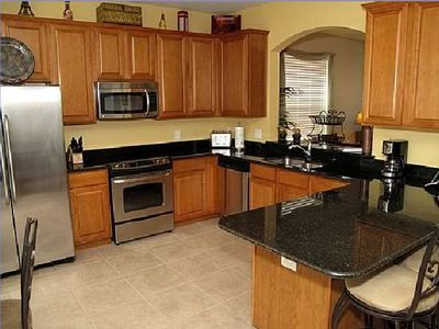 Full Kitchen With eat in Area Adjoining Dining Room With additional sitting area