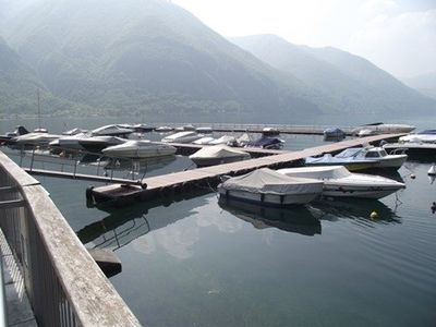 Lake Lugano villa rental - Local Pier