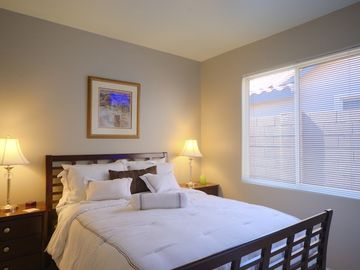 Second bedroom with queen bed as shown.