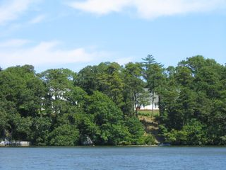 Brewster house photo - View of our waterfront beach area & white house above