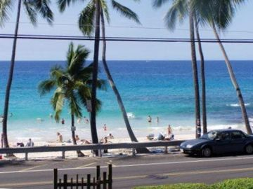 Kailua Kona condo rental - White Sands Beach-the view from our lanai
