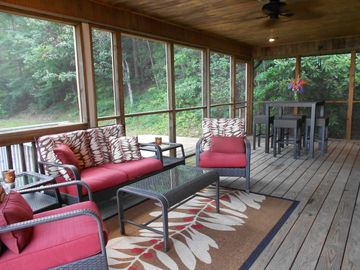Extra-Large Screened Porch with Mountain and Forest Views