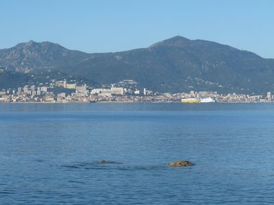 Comfortable Duplex in a private residence by the water, view of Ajaccio harbor