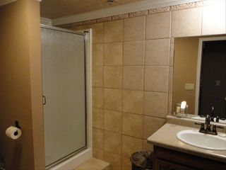 Snow Blaze condo photo - View of Hall Bathroom with custom shower, sink