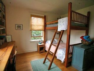 Madaket house photo - Bedroom with full size custom bunks