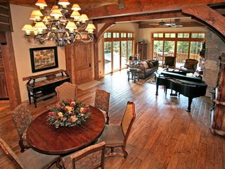 Sundance cabin photo - Baby Grand Piano with vaulted ceilings!!