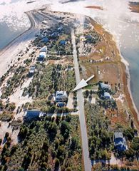 Aerial view of Gerard Drive and our home. - East Hampton cottage vacation rental photo
