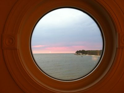 View from the ship's portal/window in the Master Bedroom