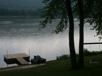 Hershey house rental - Your own private dock and swing in back yard