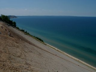 Glen Arbor condo photo - Stocking Drive dune climb to Lake MI