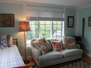 Sagamore Beach house photo - 1st floor bedroom with double bed and futon couch, cable TV