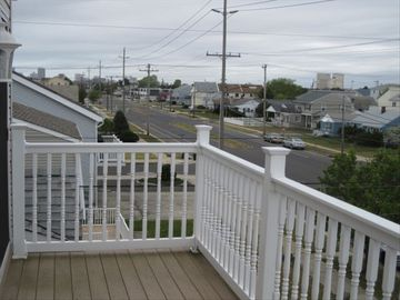 3rd floor deck with views of Atlantic City and bay