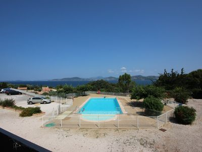 35m2 studio 2A t 1E beautiful peninsula of Giens sea view swimming pool tennis residence