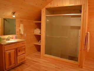 Lake Placid lodge photo - Guest Bath