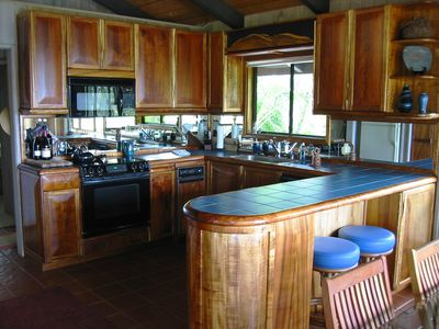 Unique Custom Koa Wood Kitchen