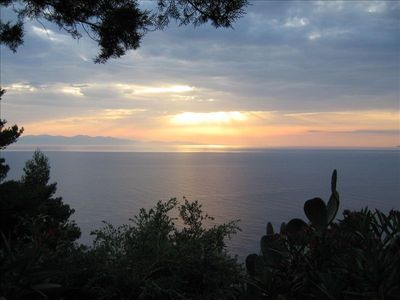 Elba house rental - Sunsets are different every night!