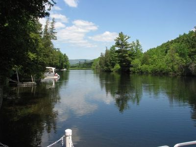 View of River from Dock -- Looking Toward Schroon Lake