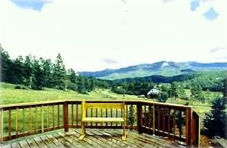 One of the many views-this one is from the Patio looking towards Wolf Creek Pass