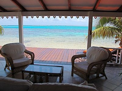 BEAUTIFUL VILLA  Beachfront, Near Maharepa Center and the International Golf...