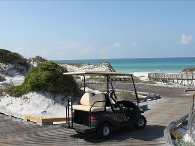 Golf Cart - Your Private Shuttle to Explore the Boardwalks of WaterSound Beach