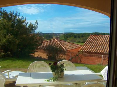Beziers apartment rental - View from the terrace over the golf course.