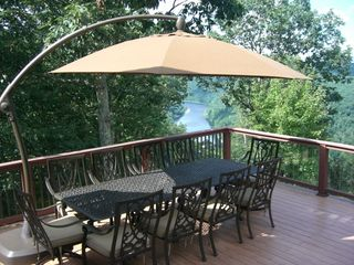 Masthope chalet photo - Large outdoor patio with plenty of seating for 10!