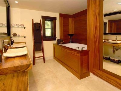 Master Bathroom with Two Person Deep Soaking Tub