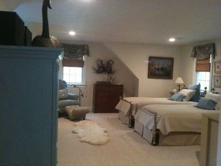 Centerville house photo - Lg. Bedroom Which Sleeps Four in Separate Twin Beds (Or KiNG) ensuite full bath.