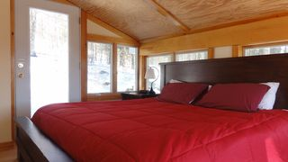 Master Bedroom - facing back yard and private rear deck - Stowe house vacation rental photo
