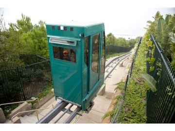 Funicular..that takes you down to beach..FREE Ride