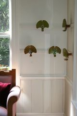 East Quogue house photo - Ceramic gingko leaf hooks in 'mudroom'