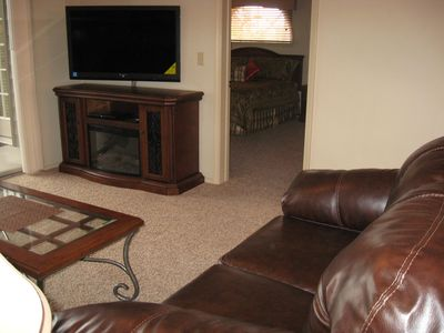 46' LED TV with Electric Fireplace Media Center