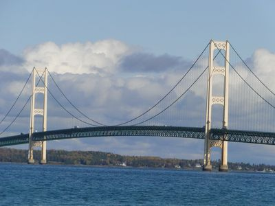 "Cottage is walking distance to the ""Mighty Mac"" Bridge."
