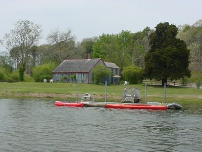 Private dock for swimming and boating