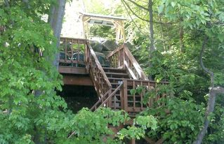 Schroon Lake house photo - Stairs to Dock