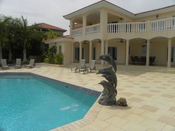 Dolphin Fountain and private pool area