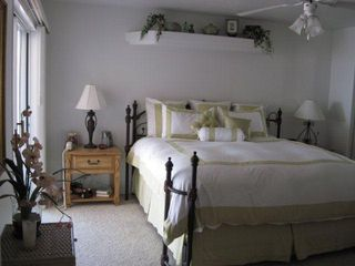 Lake Havasu City house photo - Master bedroom with king size iron bed