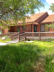 Park City cabin rental - Rear Elevation with deck and walk-out basement