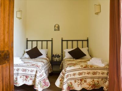 villa with pool in Siena legnaia twin  bedroom