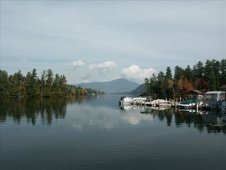 Lake Placid condo photo - Standing on private Beach.