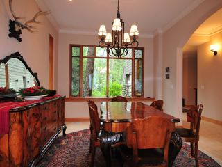 Canmore house photo - Dining room with seating for 8+