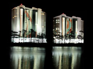 Orange Beach condo rental - Turquoise at night.