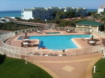 Olympic size pool, spa, gazebo, grills, and private, gated walkway to the Gulf.