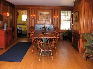 Lenox estate photo - English paneled Dining Room